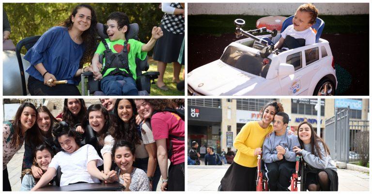 ארבע תמונות של פעילויות שונות Four activity pictures